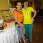 With Shiela , the Filipina head server