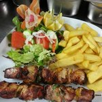 Pork kebab at Coco's Restaurant
