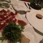 Jarmon Iberico and foie gras terrine with lobsters