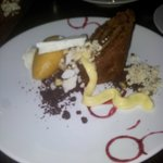 spice cake with ginger sorbet
