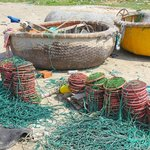 Nets for crab.