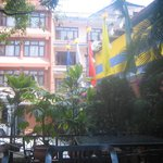 Garden and exterior of hotel