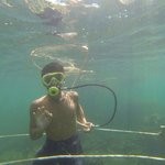 One of optional tour at Usukan Cove - Bubble Maker/Seawalking.. ��