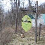 Bloomery Distillery Main Road Sign
