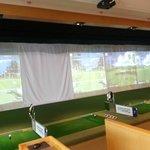 golf simulator at gym