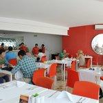 International restaurant in the morning