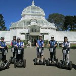 The Conservatory of Flowers, one of several highlights we wheeled by and learned more about.