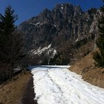 snow coved trail