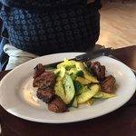 Tenderloin and steamed veggies