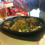 Crispy fried Noodles and Chicken