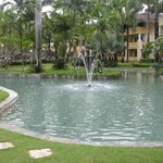 In the center of the resort was a very clean pond & fountain