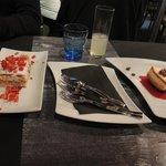 Zwei verschiedene Dessert-Sorten