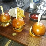 Trio de miniburgers
