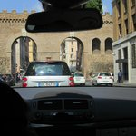 Our driver safely and efficiently managing the busy streets of Rome.