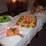 Buffet gambas et saumon