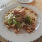 Ceesar salad with oven baked salmon- great taste!