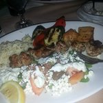 Yum! Chicken souvlaki!