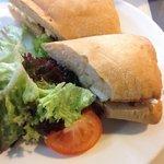 Goats cheese and homemade marmalade ciabatta