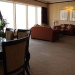 King Ambassador Suite #1521, living room & ding area