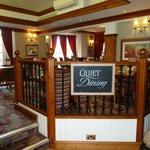 Quiet dining area