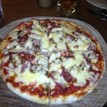 Lovely Pizza in the bar