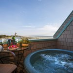 Partial Ocean View Balcony, Hot Tub and View