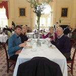 A family morning tea at the famous Pump Room