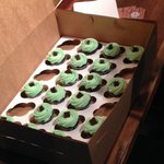 Mint Chocolate Chip cupcakes along a stop on the Old Market Walking Food Tour