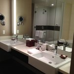 His and Hers Sink with Amenities