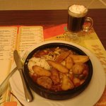 Vegetarian stew and a irish coffe from hotel restaurant