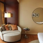 Round sofa in club room