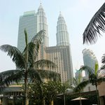 View of Petronas towers from pool