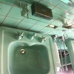 washbasin in nice green color