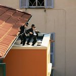players on the roof