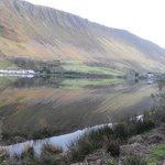 View across lake to Tyn y Cornel Hotel and the real Graig Goch Ridge
