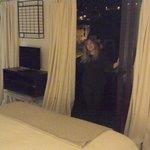 me posing in the terrace door