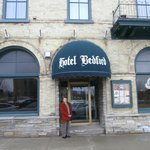 Front entrance of the Bedford Hotel in Goderich Ontario
