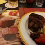 As can be seen the steak on the left is far better than in reality!