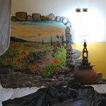 pitture sui muri nelle camere