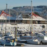 The Chartroom Restaurant & Kip Marina with snow