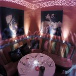 The private area in the restaurant
