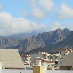Mountains behind resort
