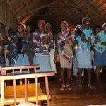 Staff performance of Botswana wedding celebration for us