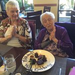 We took a friend for her 99th birthday. Chef created a special plate for dessert.