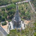 Строящийся храм, вид сверху