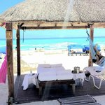 Cabanas...heavenly!! They wait on you constantly. Ritz-Carlton Cancun