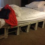 We booked a Queen room and ended up with this broken Murphy bed. What an awful sleep!