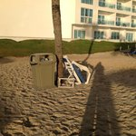 Broken chair on beach not picked for at least 4 days