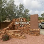 Entrance to resort