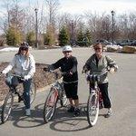 Biking around the resort